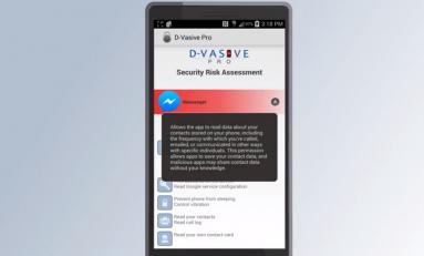 D-Vasive dla Androida wie, kiedy smartfon cię szpieguje