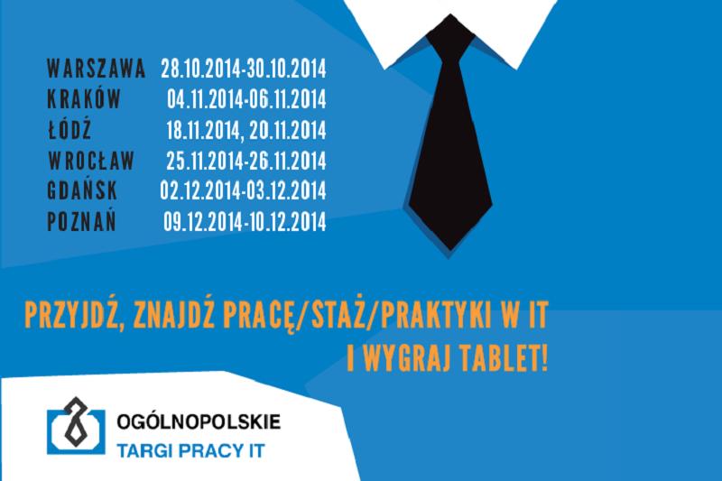 Targi Pracy IT rozpoczną się 28 października