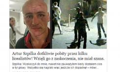 """[IP]: """"Artur Szpilka dotkliwie pobity"""" – uwaga na nową pułapkę na Facebooku"""