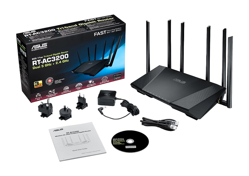 [IP]: Inteligentne, trzyzakresowe Wi-Fi z routerem ASUS RT-AC3200