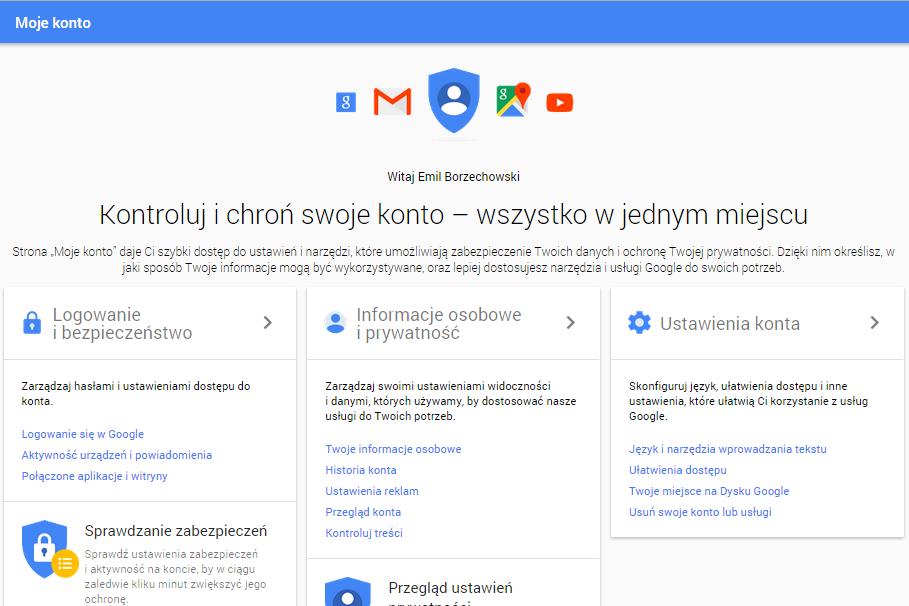 Zmiany prywatności w usługach Google