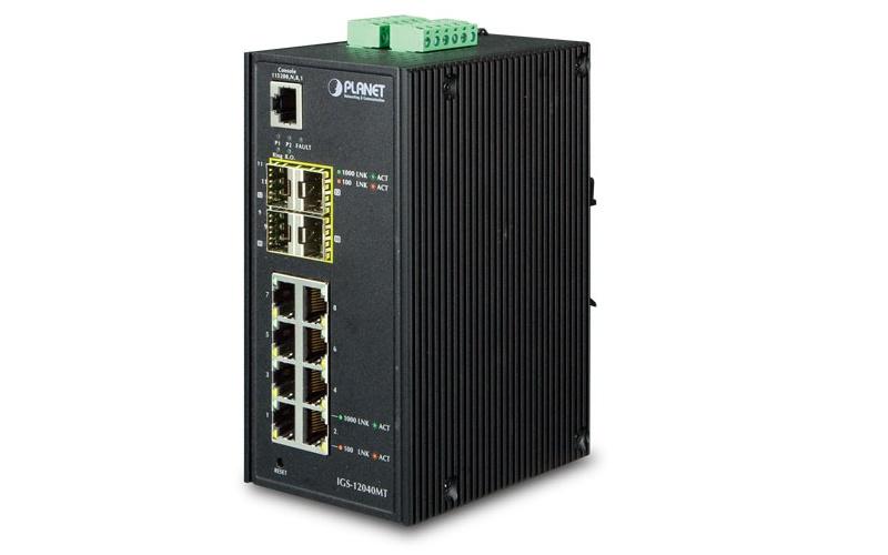 [IP]: Planet IGS-12040MT – 12-portowy switch przemysłowy