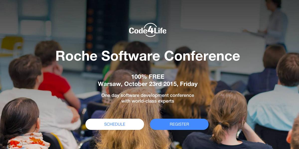 Bezpłatna Konferencja Programistyczna Code4Life 2015 [Warszawa]