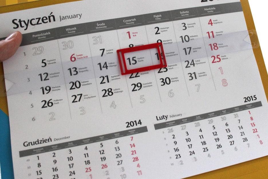 Kalendarz najlepszą formą reklamy