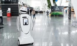 Robot na wrocławskim lotnisku