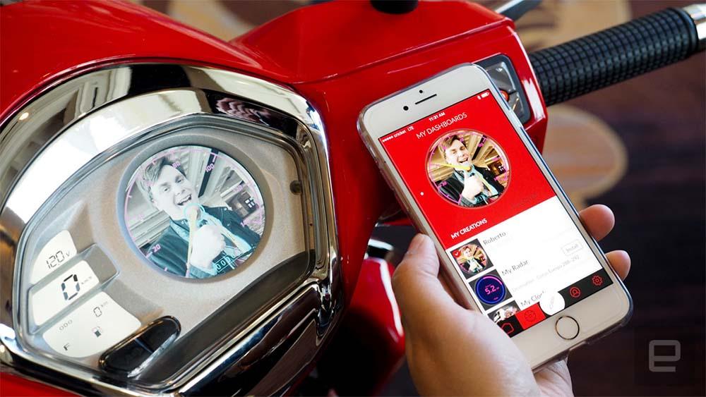 Inteligentny skuter Kymco łączy wyświetlanie alertów z wysoce modyfikowalnym wyglądem
