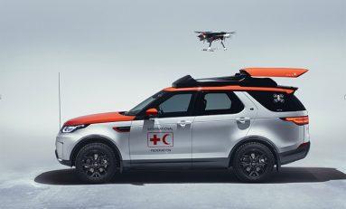 Land Rover Discovery Czerwonego Krzyża może wysyłac drony, by ratować życia